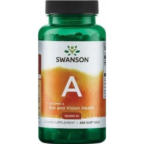 A-vitamin 10000 IE 250 softgels (Swanson)